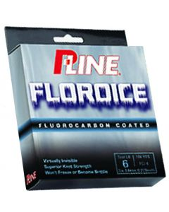 P-Line Floroice Fluorocarbon Coated Ice Line - 100 YDS.
