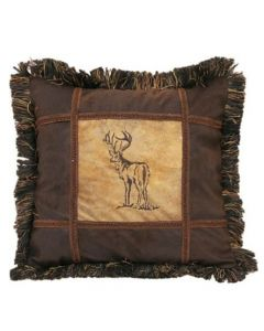 Carstens Embroidered Buck Pillow