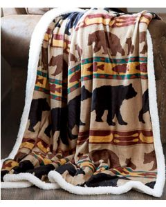 Carstens Bear Family Super Soft Extra Plush Throw