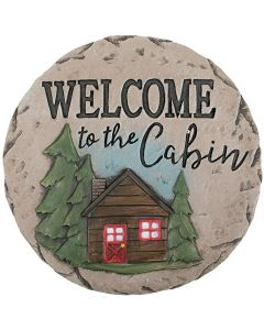 Carson Home Accents Welcome Cabin Garden Stone
