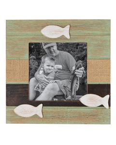 Carson Home Accents Green Fish Picture Frame