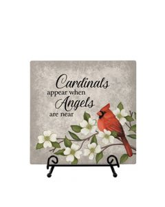 Carson Home Accents Easel Plaque - Cardinals Appear