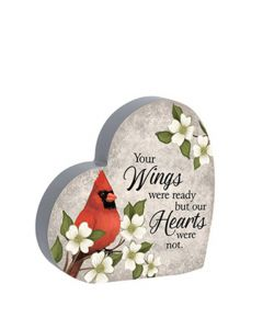 Carson Home Accents Heart Sitter - Wings Were Ready