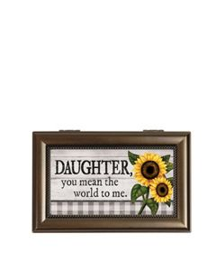 Carson Home Accents Music Box - Daughter You Mean the World to Me