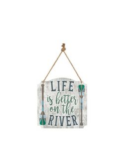 Carson Home Accents Metal Wall Sign - Life is Better on the River