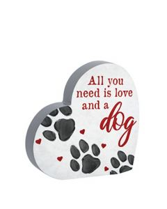 Carson Home Accents Heart Sitter - Dog
