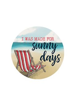Carson Home Accents Car Coaster - I Was Made for Sunny Days