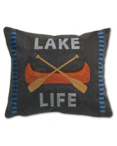 Carstens Lake Life Chain Stitch Pillow