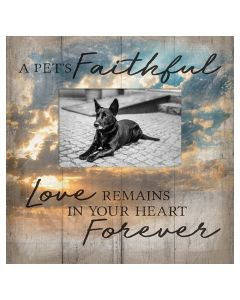 Carson Picture Frame A Pet's Faithful Love Remains in Your Heart Forever