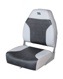 Wise High Back Fold Down Seat - Grey/Charcoal