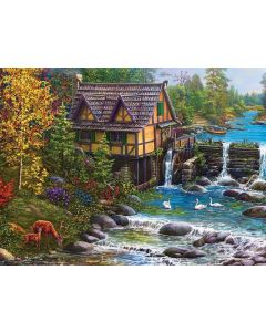 SunsOut Mill by the Stream Puzzle