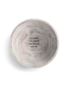 Demdaco Give Thanks Wood Serving Bowl