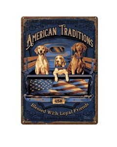 River's Edge American Tradition DogTin Sign