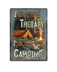 River's Edge Therapy/Camping Tin Sign