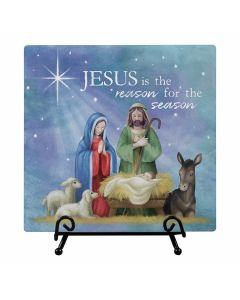Carson Easel Plaque Jesus is the Reason for the Season