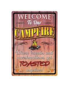 Welcome Campfire Tin Sign