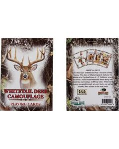 Rivers Edge Playing Cards-Single Deck Whitetail Deer Camouflage