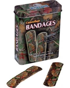Rivers Edge 32-Pack Camo Bandages in Tin