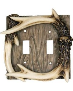 Rivers Edge Antler Double Switch Cover