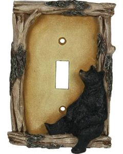 Rivers Edge Bear Single Switch Plate Cover