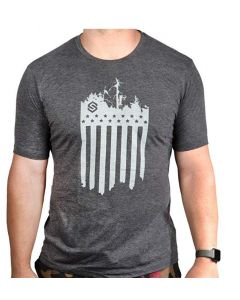 Scent Lok Stars and Stripes Logo Tee Charcoal Medium