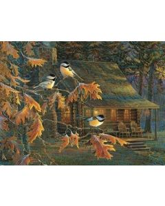 SunsOut Cabin Chickadees Puzzle