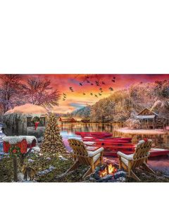 SunsOut Puzzle - Christmas Eve Camping