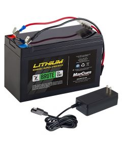 "MarCum Lithium 12V 10AH ""Brute"" Battery & 3AMP Charger Kit"
