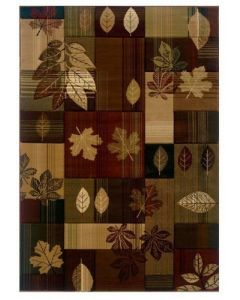 "United Weavers of America - 5'3"" x 7'6"" Rectangular Contours Autumn Bliss Toffee"