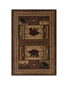 "United Weavers of America - 5'3"" x 7'6"" Rectangular Contours Bear Wilderness Toffee"