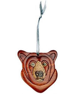 The Handcrafted Double Side Wood Intarsia Ornament - Bear