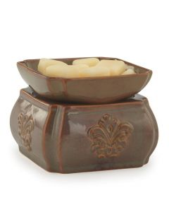 Candle Warmers Ceramic Toffee Damask 2-in-1 Fragrance Warmer