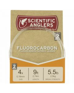 Scientific Anglers Fluorocarbon Leader 9' 4X