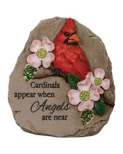 Carson Home Accents Memorial Message Stone - Cardinals Appear When Angels Are Near