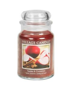 Village Candle Large Jar Scented Candle - Apples & Cinnamon