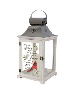 Carson Home Accents LED Lantern - When You Believe Beyond What Your Eyes Can See