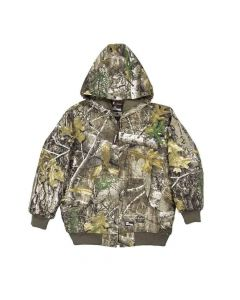 Berne Apparel Youth Washed Hooded Jacket