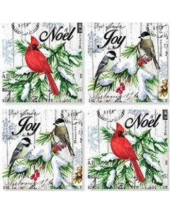 Carson Home Accents Coasters - WinterBirds on Wood