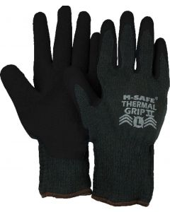 CSI Majestic Thermal Grip Rubber Palm Knit Gloves, Black