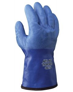 Showa Best Poly Coated Nylon Gloves, Blue