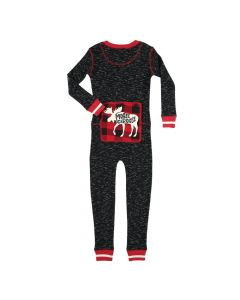 Lazy One Kids Moose Caboose Flapjack Red Plaid/Grey