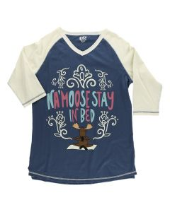 Lazy One Women's Tall Tee Na'moose Stay, Blue