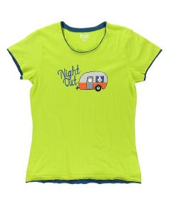 Lazy One Womens Night Out PJ Tee, Lime
