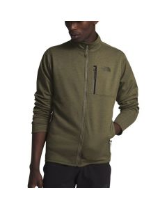 North Face Men's Canyonlands Full Zip Burnt Olive Green Heather