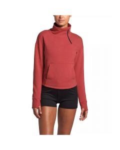The North Face Women's Motivation Fleece Mock Neck Pullover Sunbaked Red