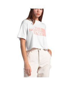 North Face Women's SS Half Dome Cropped Tee White