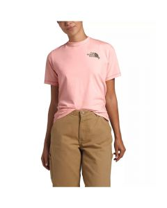 North Face Women's Short Sleeve Dome Climb Tee Imp Pink/Burnt Olive Green