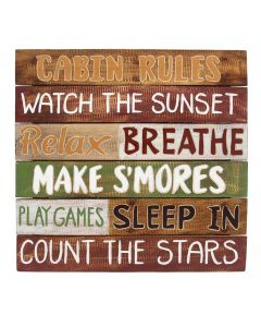 Willow Street Designs Cabin Rules Wall Sign