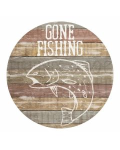 Carson Home Accents Gone Fishing Car Coaster