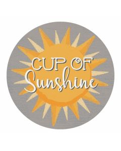Carson Home Accents Cup of Sunshine Car Coaster